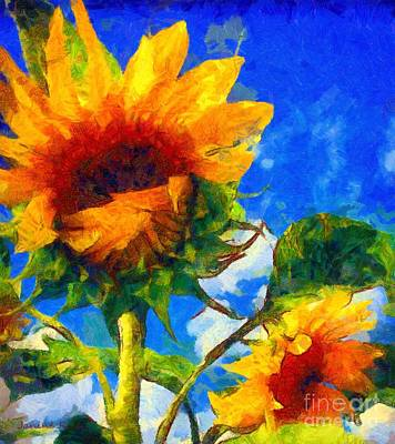 Photograph - Sunflower - Oh I've Said Too Much by Janine Riley