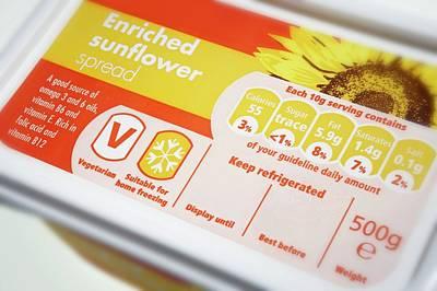 Margarine Photograph - Sunflower Oil Spread by Mark Sykes