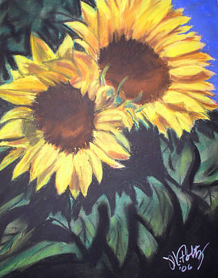 Painting - Sunflower Pair by Michael Foltz