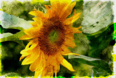 Manipulation Photograph - Sunflower Pastel - Featured In Nature Wildlife Group by EricaMaxine  Price