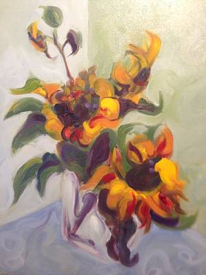 Painting - Sunflower Pirouette by Karen Carmean
