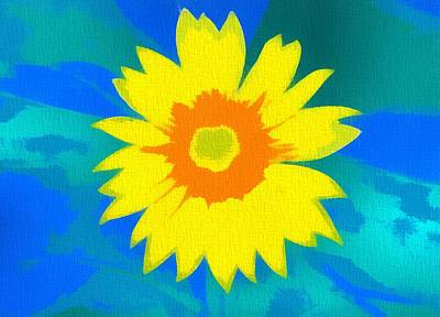Sunflower Painting - Sunflower Pop Art by Dan Sproul