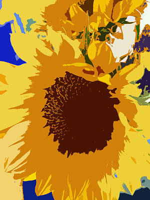 Color Block Photograph - Sunflower Pop by Colleen Kammerer