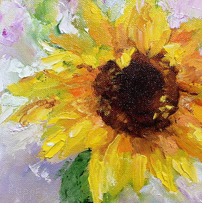 Lif Painting - Sunflower Power by Carol Hopper