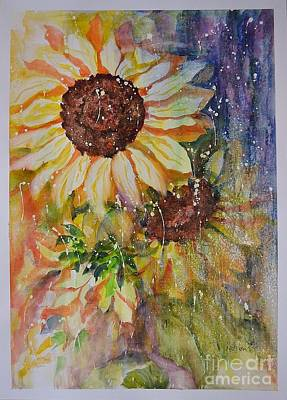 Painting - Sunflower Rain by Kathleen Pio