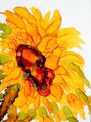 Painting - Sunflower Right Face by Vicki  Housel