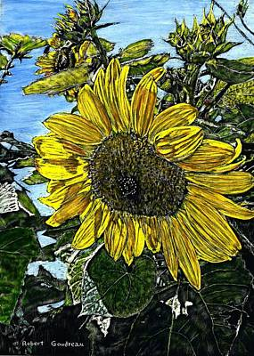 Painting - Sunflower by Robert Goudreau