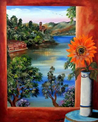 Girasole Painting - Sunflower by Roberto Gagliardi