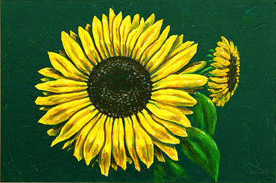 Painting - Sunflower by Ron Haist