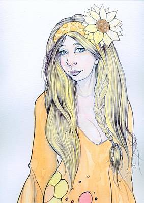 Sunflower Sara Art Print