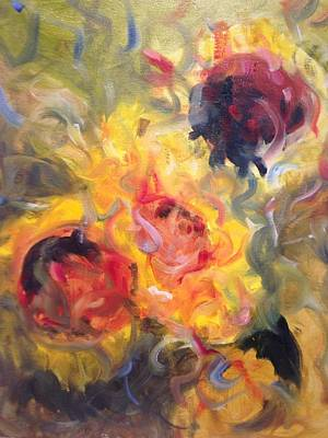 Painting - Sunflower Selebrations by Karen Carmean