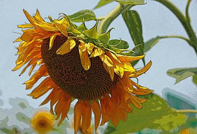 Sunflower Series I - Enhanced Original by Suzanne Gaff