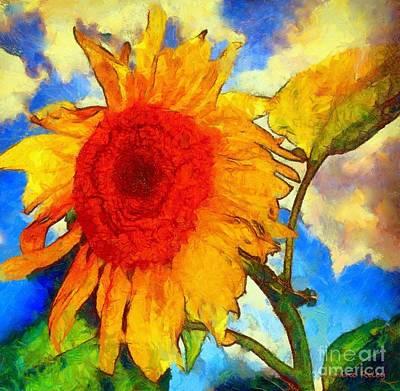 Sunflower Shine Art Print