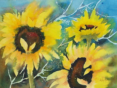 Painting - Sunflower Splash by Arlys Hefty