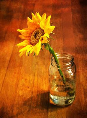 Photograph - Sunflower Still Life by Sandi OReilly
