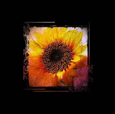 Digital Art - Sunflower Sunset - Art Nouveau  by Absinthe Art By Michelle LeAnn Scott