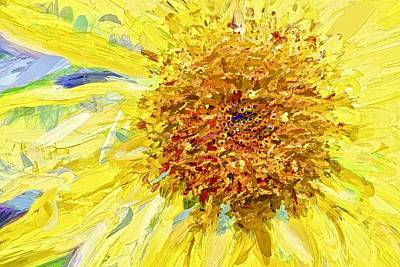Photograph - Sunflower Surreal by Alice Gipson