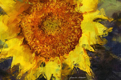Painting - Sunflower by Susan Schroeder