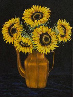 Painting - Sunflower Tea by Nancy Lauby