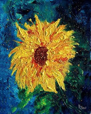 Sunflower - Tribute To Vangogh Original by Robin Monroe