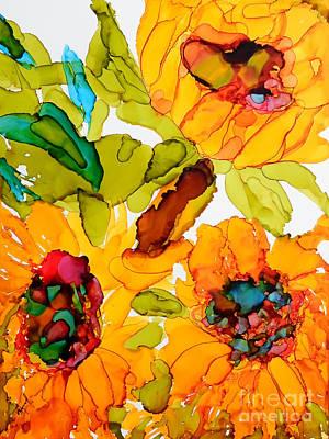 Sunflower Trio Art Print