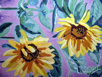 Sunflower Art Print by Vicky Tarcau
