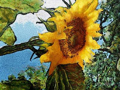 Digital Sunflower Mixed Media - Sunflower World by SiriSat