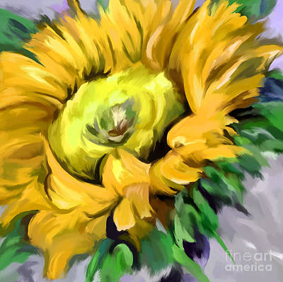 Painting - Sunflower Yellow by Tim Gilliland
