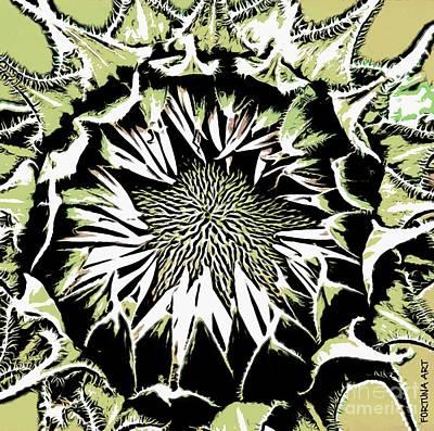Manga Digital Art - Sunflower1 by Dragica  Micki Fortuna