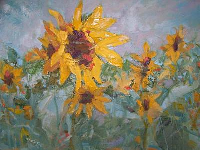 Painting - Sunflowers #1 by Bart DeCeglie