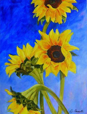 Painting - Sunflowers 1 by Deborah Carroll