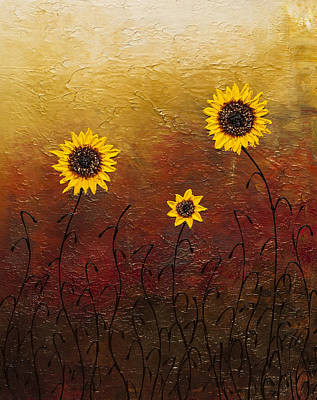 Painting - Sunflowers 2 by Carmen Guedez