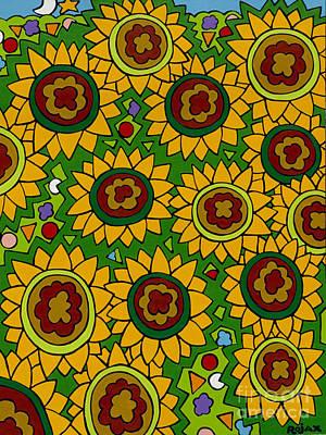 Sunflowers 2 Art Print by Rojax Art