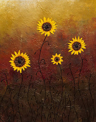 Painting - Sunflowers 3 by Carmen Guedez