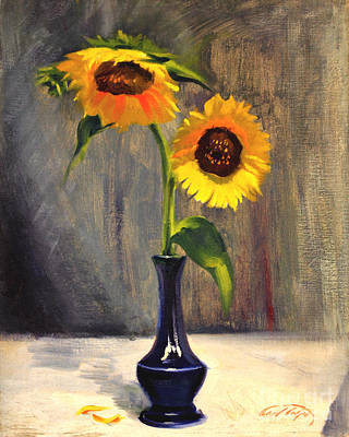 Painting - Sunflowers - Adoration by Art By Tolpo Collection