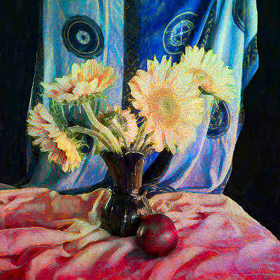 Photograph - Sunflowers And Fruit by Sandra Selle Rodriguez