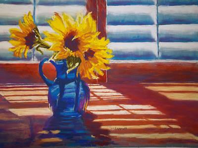 Sunflowers Backlight Art Print
