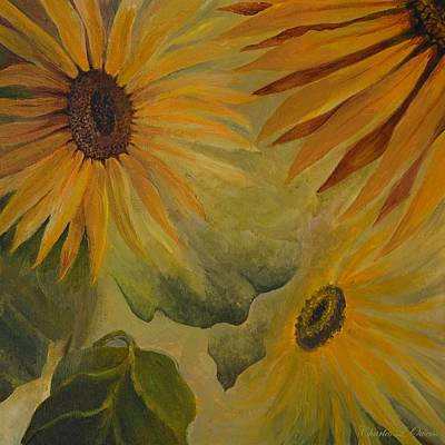 Painting - Sunflowers by Charles Owens