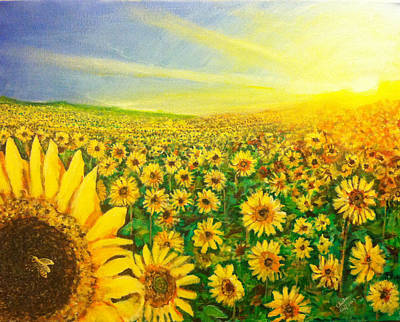 Painting - Sunflowers by Charlie Harris