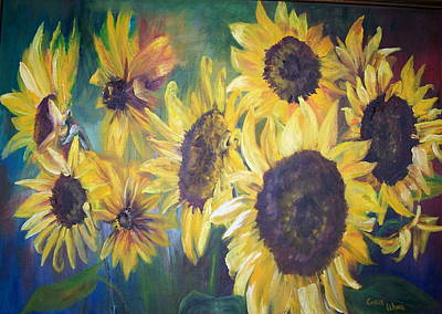Painting - Sunflowers by Chris Wing
