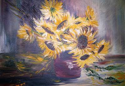 Painting - Sunflowers by Christa Friedl