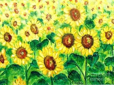 Painting - Sunflowers by Cristina Stefan