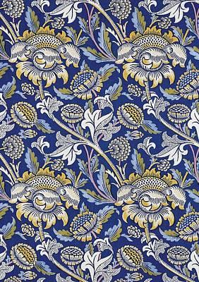 Tapestries - Textiles Digital Art - Sunflowers Design by William Morris