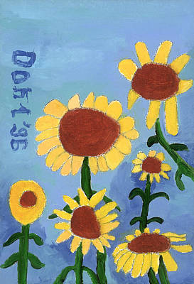 Painting - Sunflowers by Don Larison