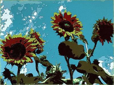 Sunflowers Painting - Sunflowers Dream by Florian Rodarte