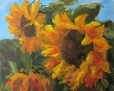 Painting - Sunflowers by Elena Balekha