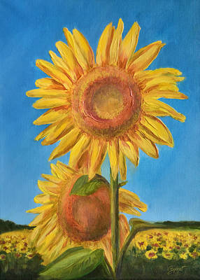 Painting - Sunflowers by Gynt Art