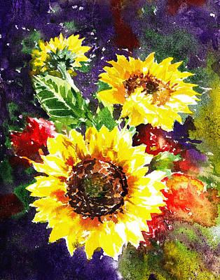 Sunflowers Impressionism Art Print