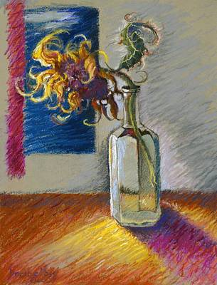 Pastel - Sunflowers In A Bottle by Ellen Dreibelbis