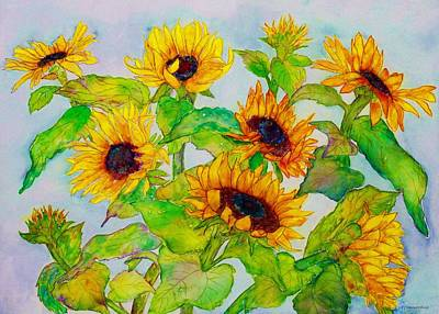 Painting - Sunflowers In A Field by Janet Immordino